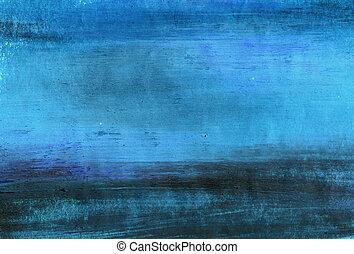 ペイントされた, 青い背景, ∥あるいは∥, 手ざわり