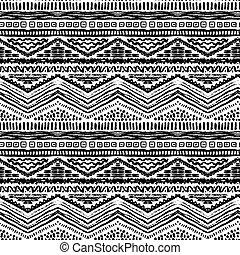 ペイントされた, pattern., seamless, イラスト, 手, ベクトル, 引かれる