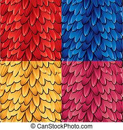 ペダル, 花, seamless, パターン