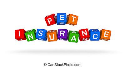 ペット, 保険, カラフルである, 印。, 多色刷り, おもちゃ, blocks.