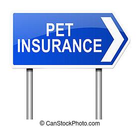 ペット, 保険, concept.