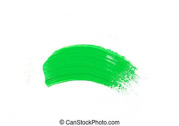 ペンキ, ストローク, 緑, ブラシ