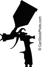 ペンキ, スプレー, 黒い銃