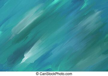 ペンキ, 緑, バックグラウンド。, 抽象的, 手ざわり, オイル, キャンバス