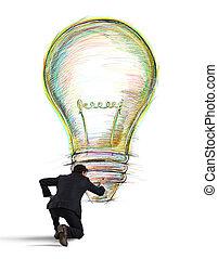 ペンキ, 考え, ビジネス, 創造的