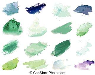 ペンキ, splat, 水彩画