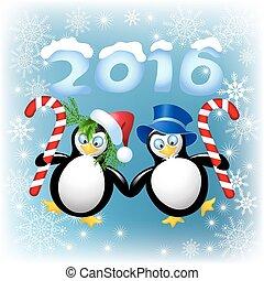 ペンギン, クリスマス, 2, comfit, 面白い