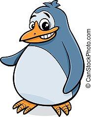 ペンギン, 漫画, イラスト, 鳥