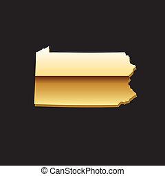 ペンシルバニアの地図, 金