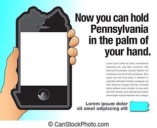 ペンシルバニア, 電話, のように, 形づくられた