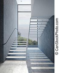 ペントハウス, 現代, 階段