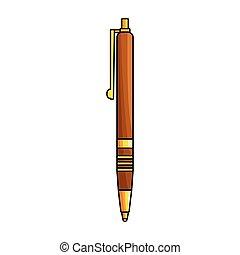 ペン, カラフルである, 優雅である, アイコン, 平ら, デザイン, デザイン