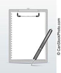 ペン, クリップボード