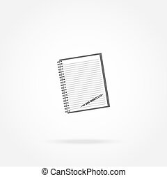ペン, ノート, アイコン