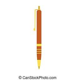 ペン, 優雅である, アイコン, 平ら, デザイン