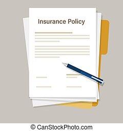 ペン, 合意, ペーパーワーク, 署名, 戦略, 保険