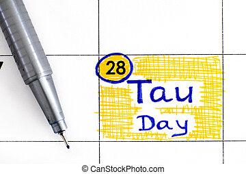 ペン, 日, tau, メモ, カレンダー