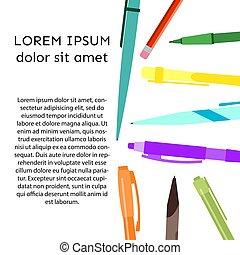 ペン, 背景, 鉛筆