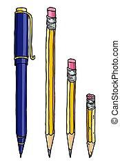 ペン, 鉛筆, イラスト