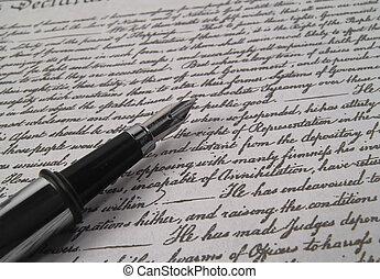 ペン, 2, caligraphy