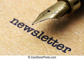 ペン, newsletter