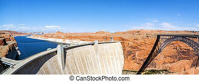 ページ, パノラマの光景, 峡谷, 橋, ダム