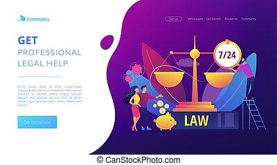 ページ, 法的, 着陸, サービス, 概念