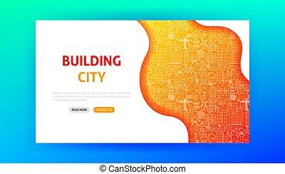 ページ, 都市, 建物, 着陸