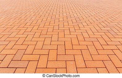 ペーバー, ブロック, 床, 背景