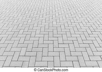 ペーバー, ブロック, 背景, 床