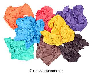 ペーパーにシーツを敷く, しわくちゃになった, 別, 色