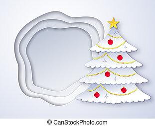 ペーパーを切りなさい, 木, クリスマス