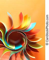 ペーパーを彩色した, 構造, 形づくられた, ∥ように∥, ∥, 太陽