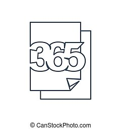 ペーパー, アウトライン, アイコン, ロゴ, デザイン, 文書, 無限点, イラスト, 365