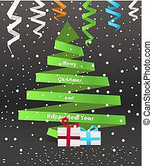 ペーパー, クリスマスツリー, 抽象的