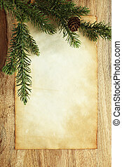 ペーパー, クリスマス, 装飾, ブランク