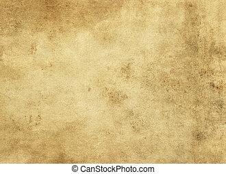 ペーパー, グランジ, texture., yellowed