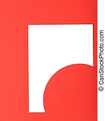 ペーパー, グリーティングカード, 赤