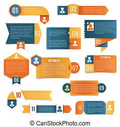ペーパー, ラベル, infographics
