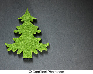 ペーパー, 切断, 木, クリスマス