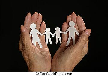 ペーパー, 家族, 手