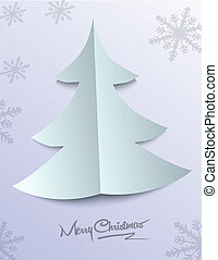 ペーパー, 木, クリスマス