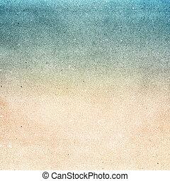 ペーパー, 浜, フィルム, リサイクルされる, 穀粒, 背景, 夏, textured