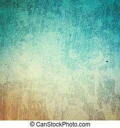 ペーパー, 浜, リサイクルされる, 抽象的, 設計された, グランジ, pape, texture., 海