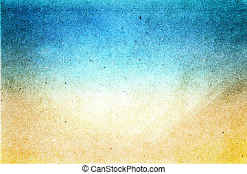 ペーパー, 浜, リサイクルされる, 抽象的, 設計された, 夏, グランジ, texture., パパ