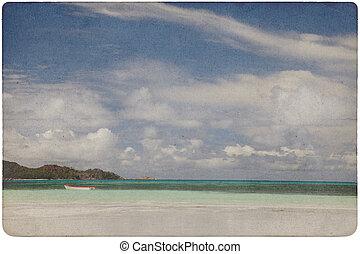 ペーパー, 浜, 夢, 背景