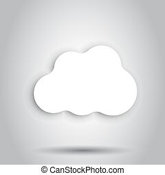 ペーパー, 雲, sky., ?artoon, ペーパー, 雲, イラスト, バックグラウンド。, 空気, ビジネス,...