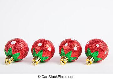 ペーパー, 飾り付ける, 背景, 木, クリスマス, 装置, 白