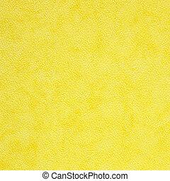 ペーパー, 黄色の背景, 手ざわり
