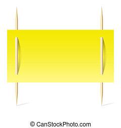 ペーパー, 黄色, つまようじ
